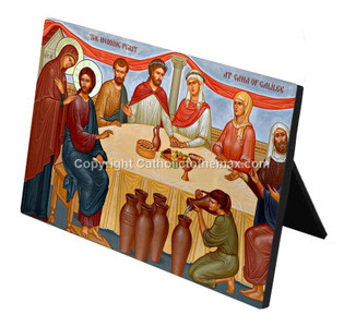 """The Wedding Feast of Cana"" Desk Plaque"