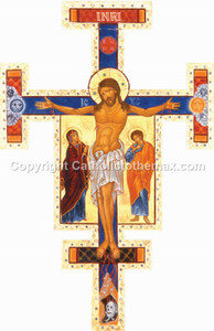 Icon of Cross (Gold) Wall Plaque