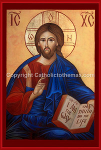 Christ Pantocrator (Modern) Icon Wall Plaque