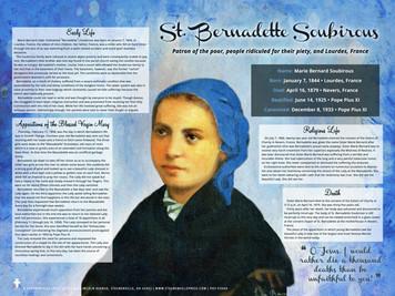 St. Bernadette Soubirous Explained Poster
