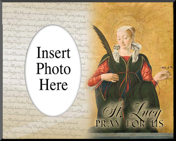 St. Lucy Photo Frame