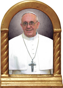 Pope Francis Formal Desk Shrine