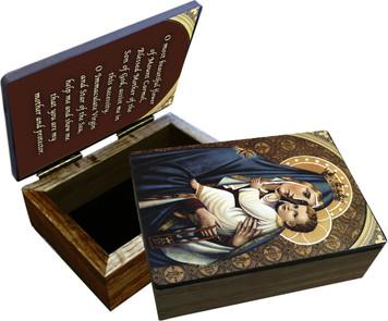 Our Lady of Mt. Carmel Keepsake Box