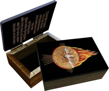 Holy Spirit with Fire Keepsake Box