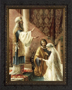 Wedding of Joseph and Mary - Ornate Dark Frame
