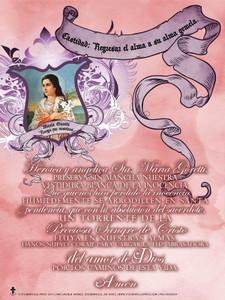 Spanish St. Maria Goretti (Chastity) Poster