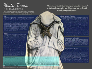 Spanish Mother Teresa Explained Poster