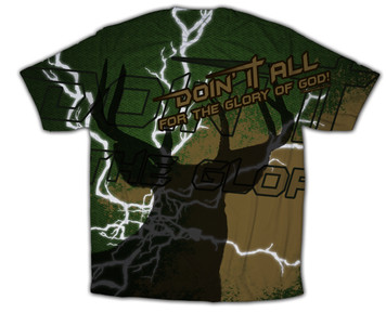 """""""Doing It All"""" Hunting Graphic Poly T Shirt"""
