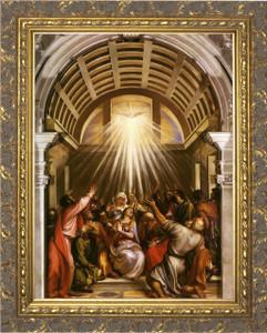 Pentecost by Titian - Ornate Gold Framed Art