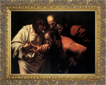 St. Thomas by Caravaggio - Ornate Gold Framed Art