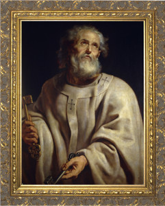 Pope Peter - Ornate Gold Framed Art