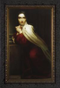 St. Teresa of Avila - Dark Ornate Framed Art