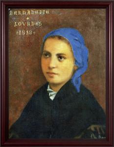 St. Bernadette - Cherry Framed Art