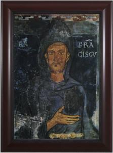 St. Francis of Assisi (Fresco) - Cherry Framed Art