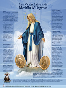 Spanish St. Catherine Laboure and the Miraculous Medal Explained Poster