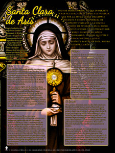Spanish St. Clare of Assisi Explained Poster