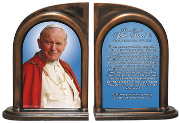 Pope John Paul II Sainthood Quote Bookends
