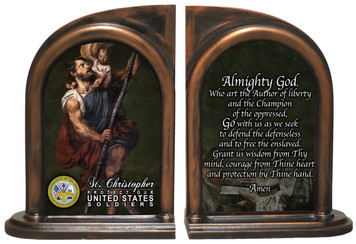 St. Christopher Army Bookends