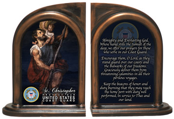 St. Christopher Coast Guard II Bookends