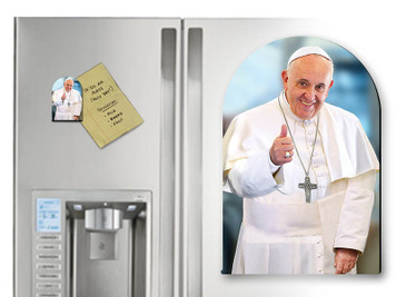Pope Francis Thumbs Up Arched Magnet