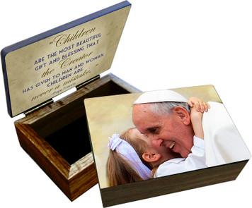 Pope Francis with Child Keepsake Box