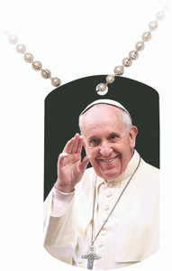 Pope Francis Waving Dog Tag