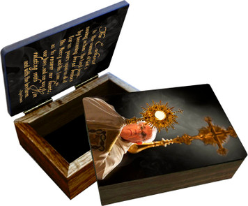 Pope Francis with Monstrance Keepsake Box
