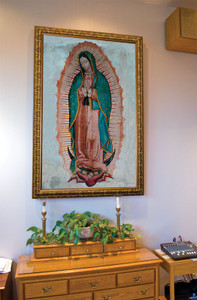 Our Lady of Guadalupe Church-Sized Framed Canvas Art