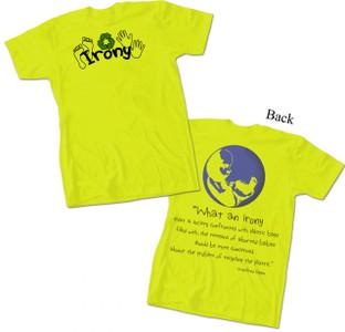 """Irony"" Green T-Shirt"