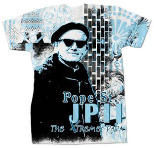 Pope Saint John Paul II Extreme Papa All Over Tee