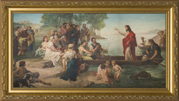 Jesus Preaching from the Boat Framed Art