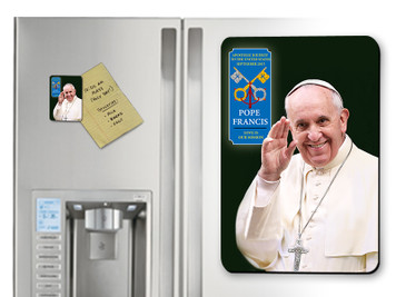 Pope Francis Waving Commemorative Apostolic Journey Magnet