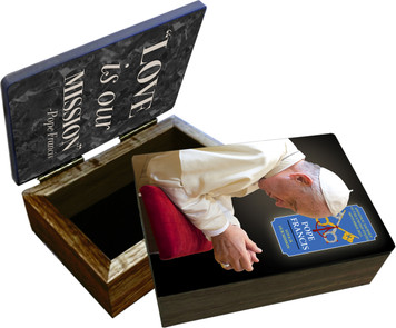 Pope Francis in Prayer Commemorative Apostolic Journey Keepsake Box
