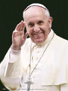 Pope Francis Waving Poster