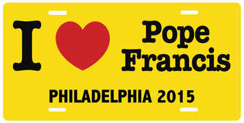 I Love Pope Francis Philadelphia 2015 License Plate