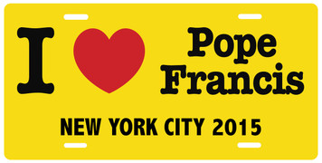 I Love Pope Francis New York City License Plate