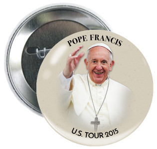 "Pope Francis U.S. Tour 3"" Button"