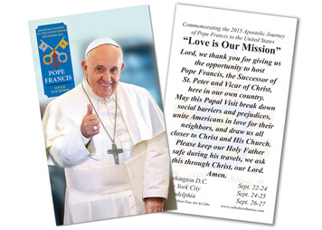 Pope Francis Thumbs Up Commemorative Holy Card