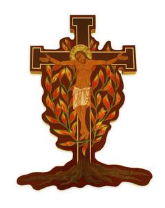Burning Bush Wall Crucifix