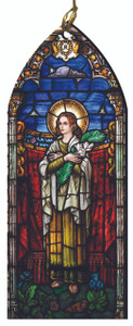 St. Lucy Stained Glass Wood Ornament