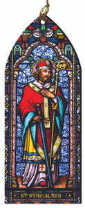 St. Stanislaus Stained Glass Wood Ornament