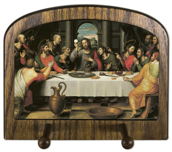 The Last Supper by Juan de Juanes Horizontal Peg Holder