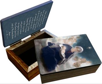 Star of Bethlehem by Bruno Piglhein Keepsake Box