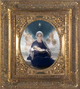 Star of Bethlehem by Bruno Piglhein Spandrel Framed Canvas 8x10