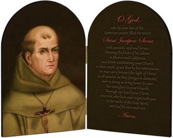 St. Junipero Serra Arched Diptych