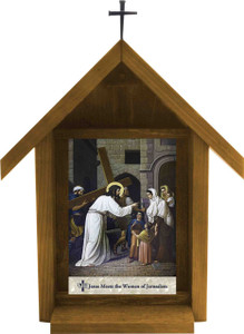 Emmerich Stations of the Cross Handcrafted Deluxe Outdoor Shrine (Set of 14)