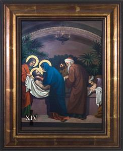 Emmerich Stations of the Cross (Set of 14) in Large Bronze Frames