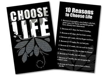 10 Reasons to Choose Life Card