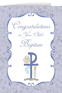 Child's Baptism Lilac Greeting Card