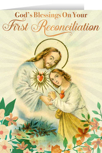 Sacred Heart First Reconciliation Greeting Card